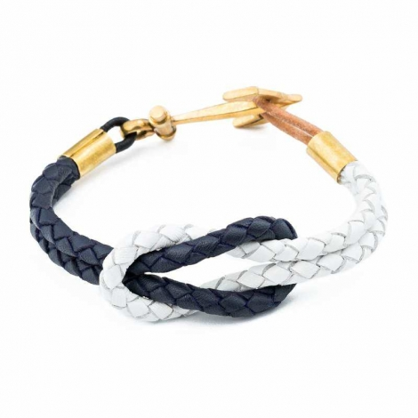 Blue White Reef Knot